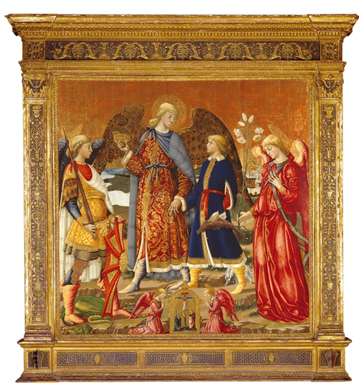 Description of . The Palla Altarpiece: Tobias and Three Archangels by Neri Di Bicci: $8M-15M. Photo courtesy of the Detroit Institute of Arts.