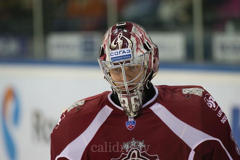Goalkeeper of Dinamo Riga Jakub Sedlacek (36)