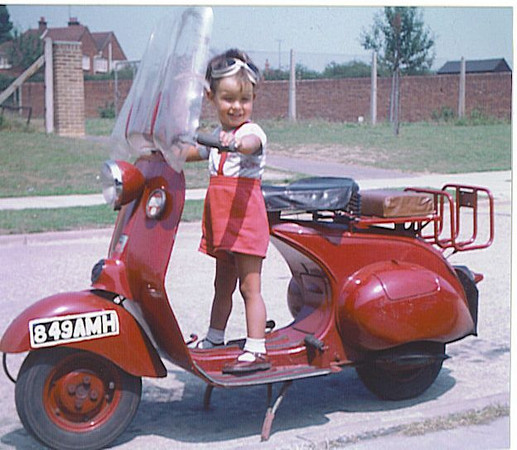 049 Stephen on Bruces scooter 1960.jpg