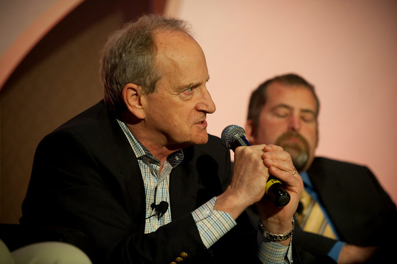 """Ocean Pollution, New Data"": Denis Hayes (L), President and CEO, Bullitt Foundation; and Sen. Kevin Ranker, 40th Legislative District, Washington State Senate"