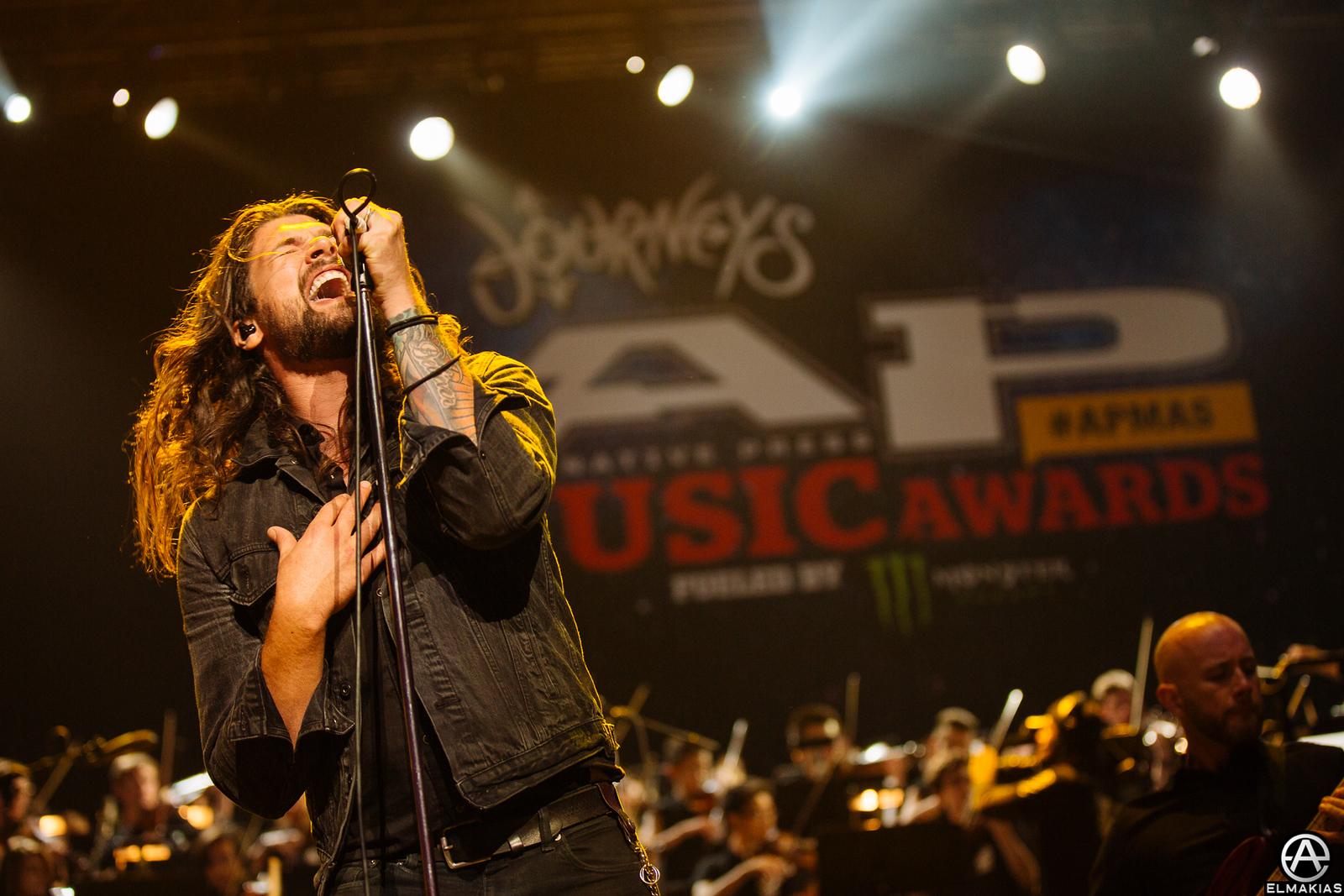 Adam Lazzara of Taking Back Sunday live at the Alternative Press Music Awards 2015 by Adam Elmakias