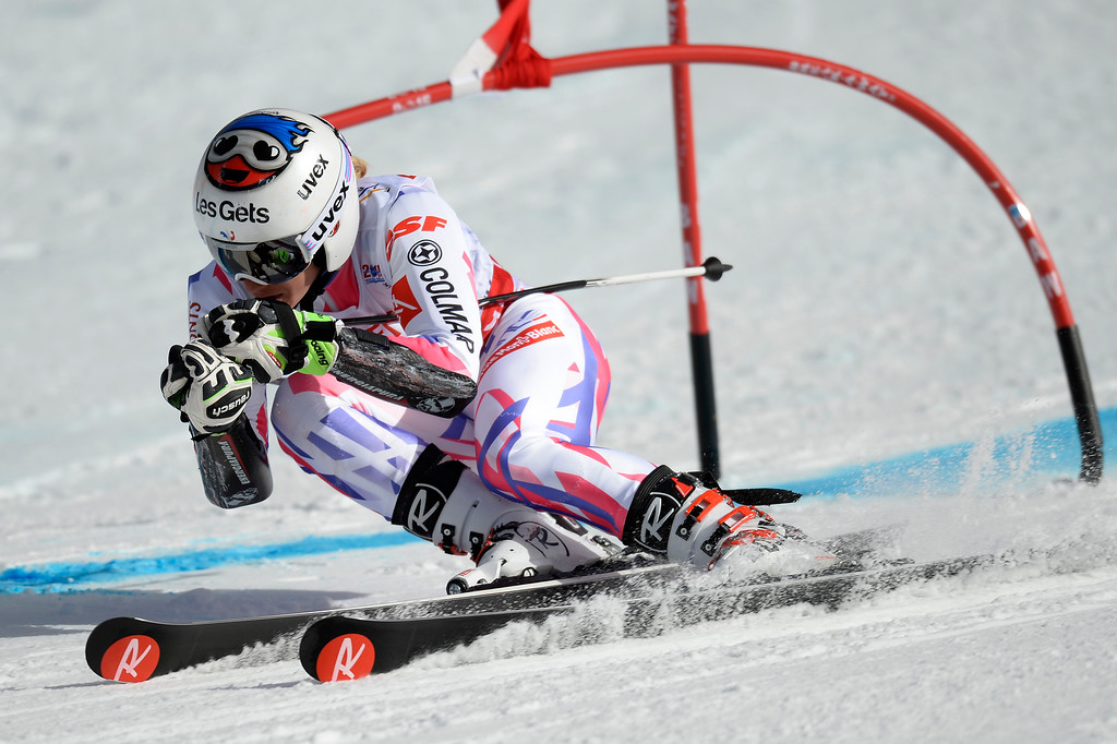 . BEAVER CREEK, CO - FEBRUARY 12: Adeline Baud of France competes during the ladies\' giant slalom. FIS Alpine World Ski Championships 2015 on Thursday, February 12, 2015. (Photo by AAron Ontiveroz/The Denver Post)