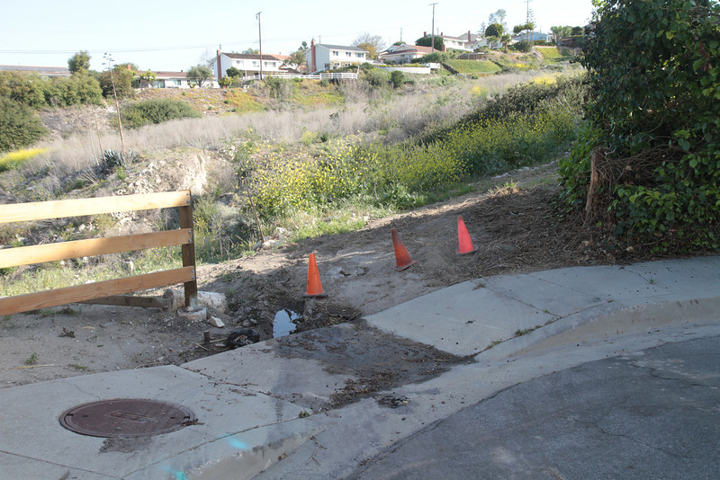The entrance at Rock Park has been damaged.