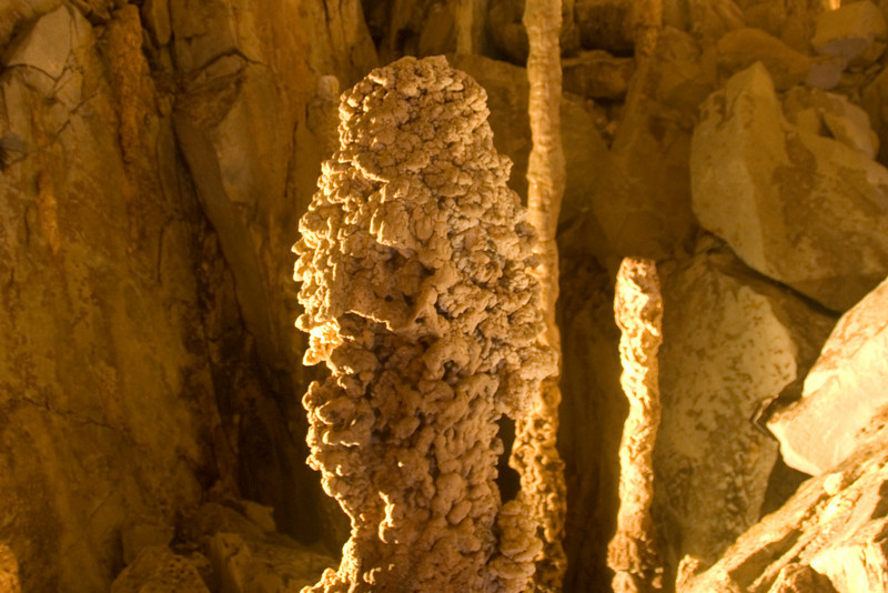 Stalagmite formation inside the Wind Cave at Mulu National Park - Sarawak, Malaysia