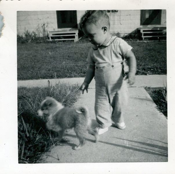 1950 Butch with brown and white dog.jpeg