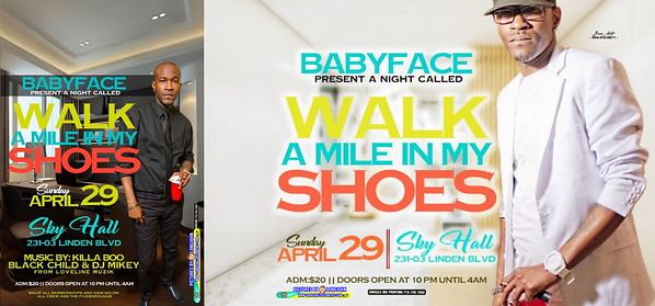 "BABY FACE ""WALK A MILE IN MY SHOES 2018""(10)"