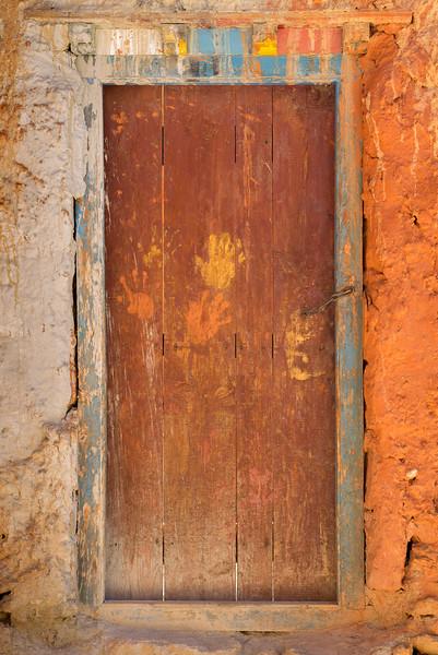 Handprints on the Door