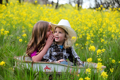Georgia and Rowdy in the wildflowers ~ mini shoot