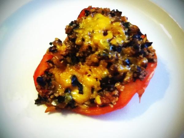 Day 11: Quinoa stuffed red pepper!