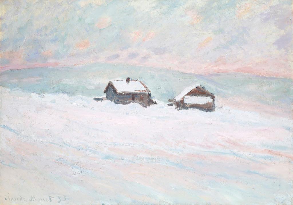 """. Claude Monet, \""""Les Maison Dans la Neige, Norvege,\"""" 1895, oil on canvas, 26x36.5\""""  (Image provided by the Denver Art Museum)"""