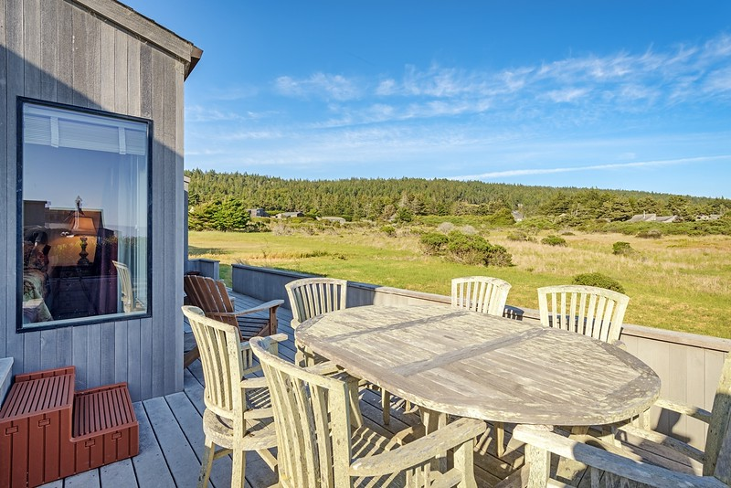 Back Deck with Meadow View
