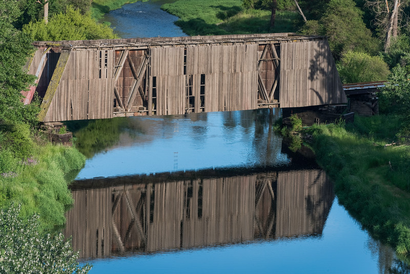 Covered Bridge Over Palouse River