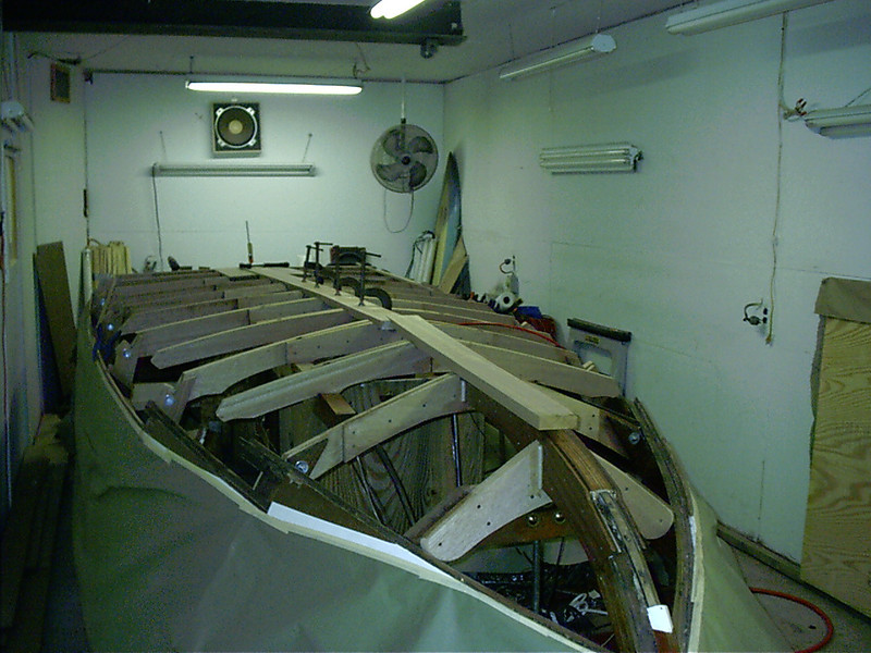 New keel being fit.