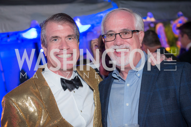 Scott Stewart, Bill Stewart, Capitol Seniors Housing, 15th Anniversary Party.  November 8, 2018. Photo by Ben Droz.