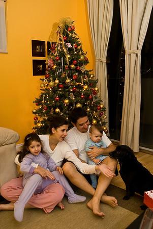 Montando a arvore de Natal. Um pinheiro de verdade demora de 7 a 10 anos pra crescer, por isso temos a nossa fake de guerra todos os anos ;o)