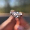 1.03ct Antique Pear/Heart Shape Diamond GIA F VS2 3