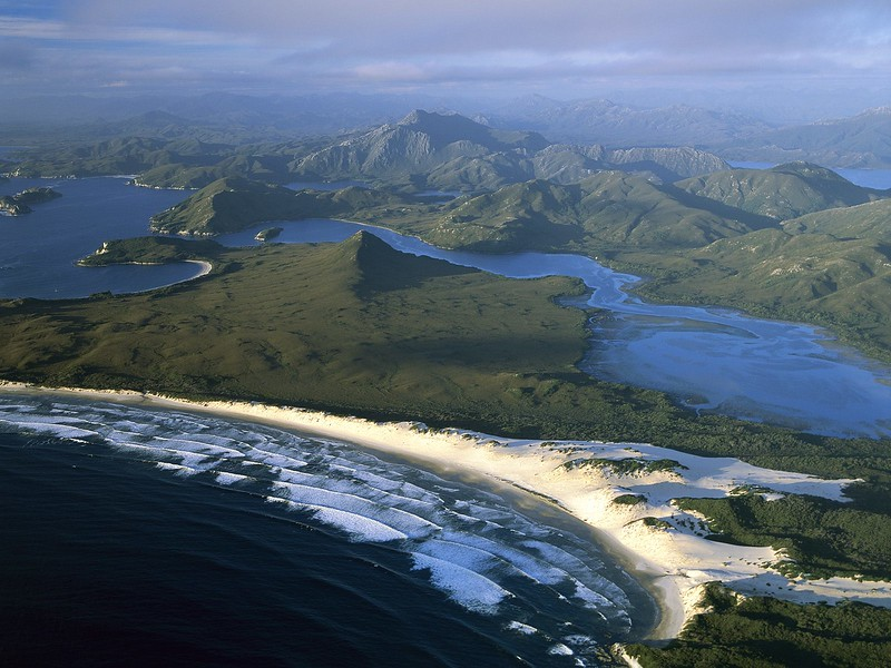 Port Davey, Stephens Bay, Hannant Inlet and Mount Rugby, Tasmania, Australia.jpg