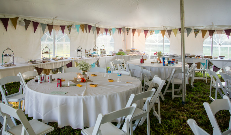 Beautiful setting decorated by the parents!