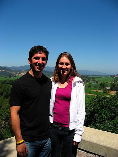 Katy and I at Silverado Vineyards