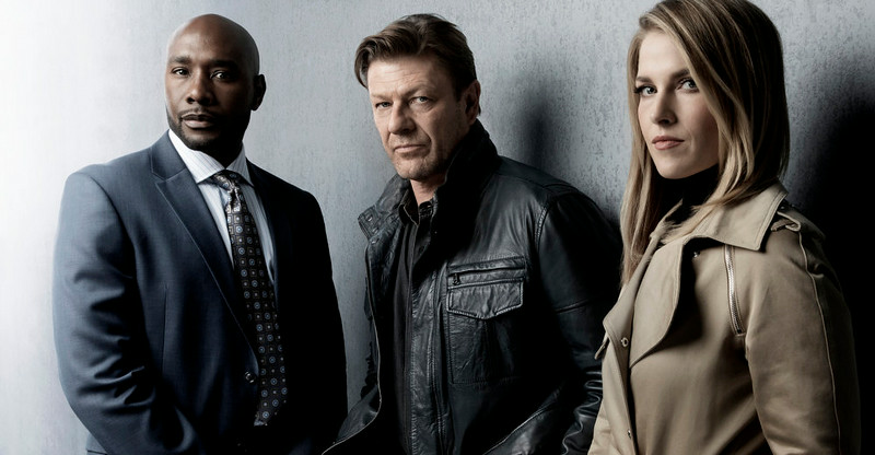 . Morris Chestnut, Sean Bean and Ali Larter in TNT\'s summer mystery drama �Legends,� about an undercover agent who may not be the person he believes himself to be. (Photo by Marco Grob/TNT)