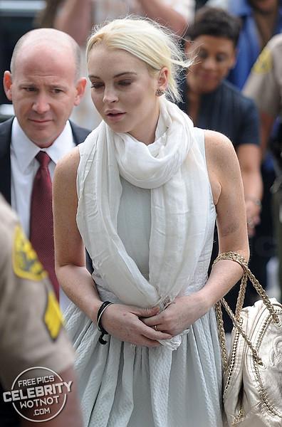 Lindsay Lohan Wearing Fendi And Showing Off Tattoos, LA