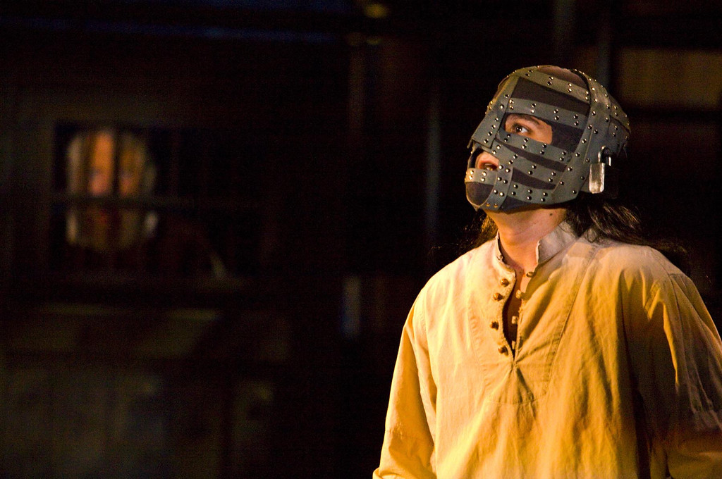 ". Charles Pasternak plays Philippe, the man in the iron mask, in Shakespeare Santa Cruz\'s world premiere of ""The Man In the Iron Mask.\"" (Photo courtesy of RR Jones, Shakespeare Santa Cruz.)"