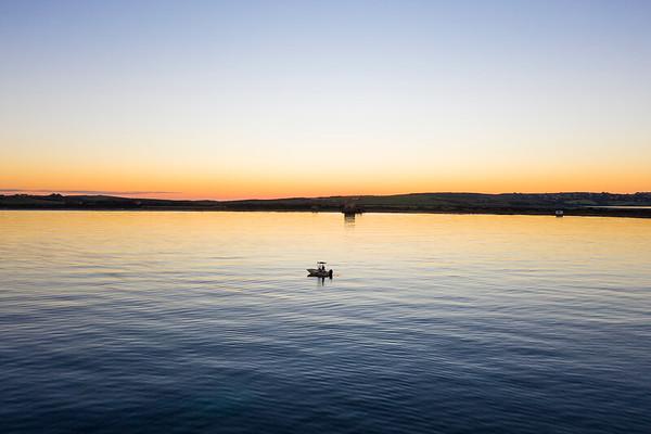 Drone - foto notturne Stintino e tramonto in barca alle saline - PP MAURO 09.01.2020