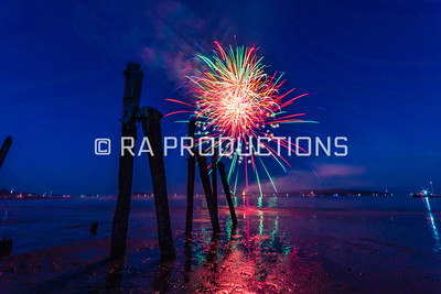 West Beach Sunset and Fireworks July 4th 2018
