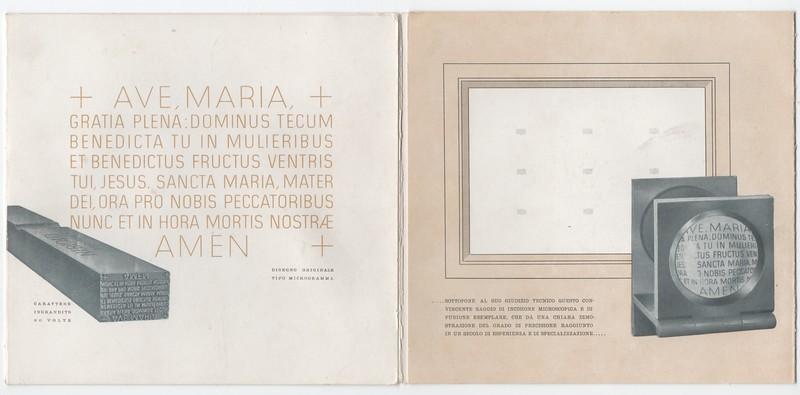 Microgramma, by Alessandro Butti, Nebiolo 1948.