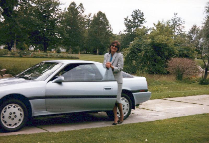 1984 Teri and new car (1).jpeg