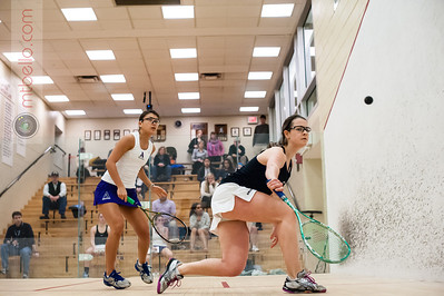 2014-02-22 Ericka Robertson (Amherst) and Rachel Barnes (Bowdoin)