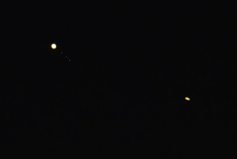 Jupiter, Io, Europa, Ganymede, Callisto With Saturn