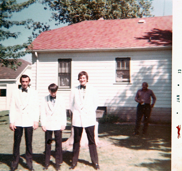 Kenny, Norm with George on wedding day.JPG