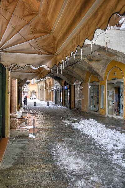 Via Broletto - Reggio Emilia, Italy - February 2, 2012