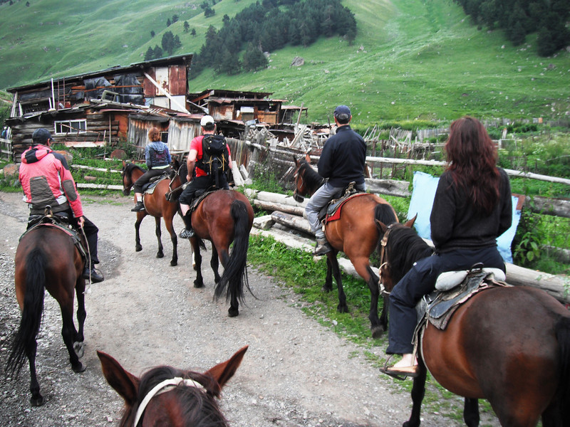 After lunch - relaxing horseback riding.