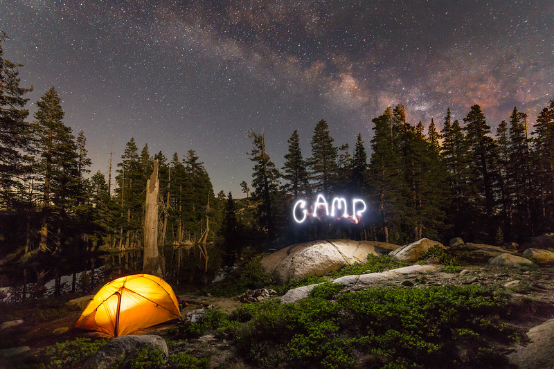 Milkyway Camping on the Pacific Crest Trail Sierra