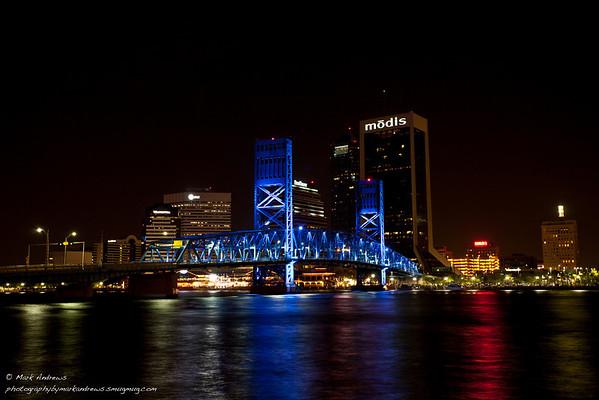 Jacksonville, Florida Bridges at night