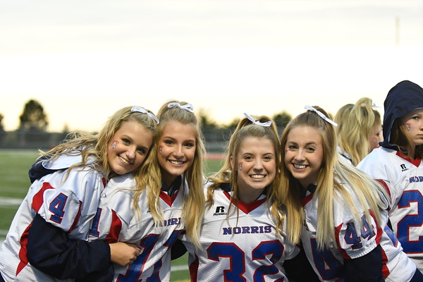Cheer at Varsity Football vs Plattsmouth