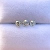 1.54ctw Antique Cushion Cut 3-stone Suite 0