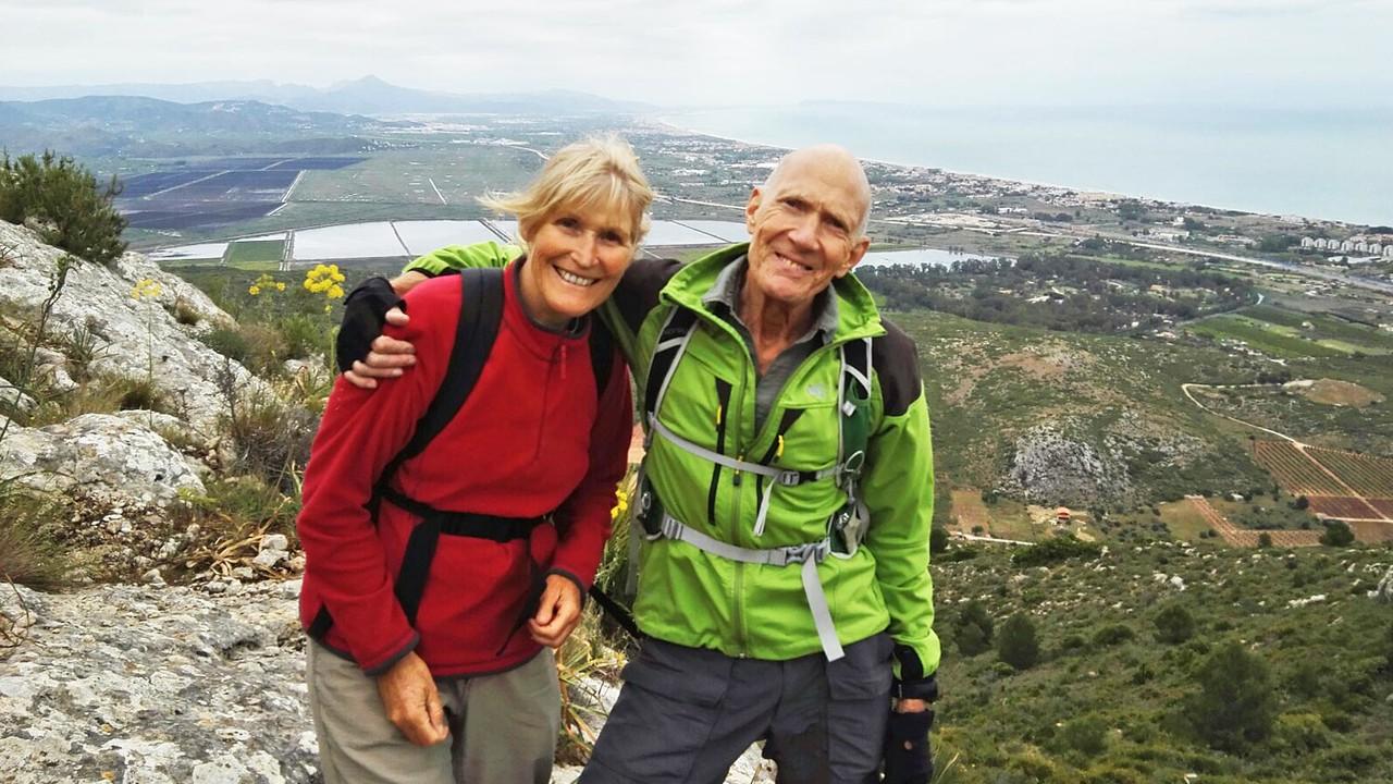 Terryl and Vic on Serra de Segaria