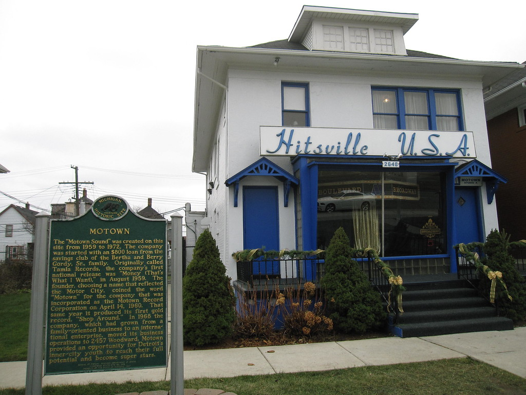 . This Dec. 2, 2014 photo shows the exterior of the Motown Museum in Detroit. The museum is located on the site of the recording studio that Berry Gordy founded in 1959, creating the Motown hit machine that produced Diana Ross and the Supremes, The Temptations, Michael Jackson and many other superstars. The museum is filled with artifacts from original furniture to gold records, and visitors get to see the recording studio _ small and simple by today�s standards _ where many of the hits were recorded. (AP Photo/Beth J. Harpaz)
