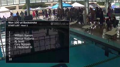 E24 Men's 100 yd Backstroke