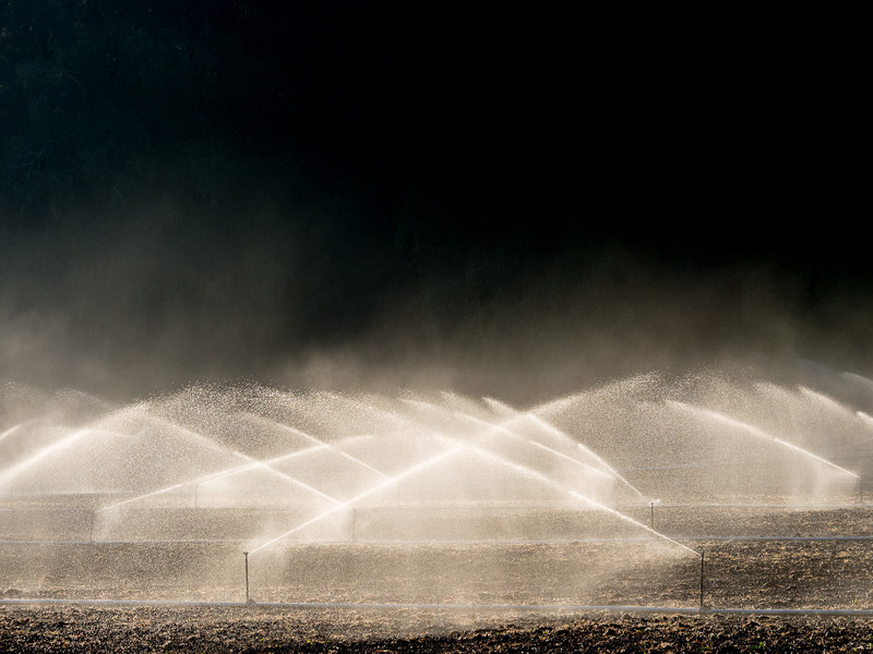 Industrial Irrigation System at Work