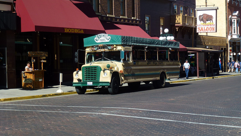 The tour bus we took on an informative trip around the sites of interest in Deadwood