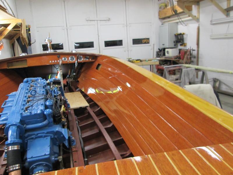 Starboard liner installed.