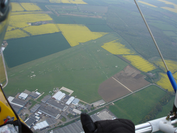 Sywell airfield from above