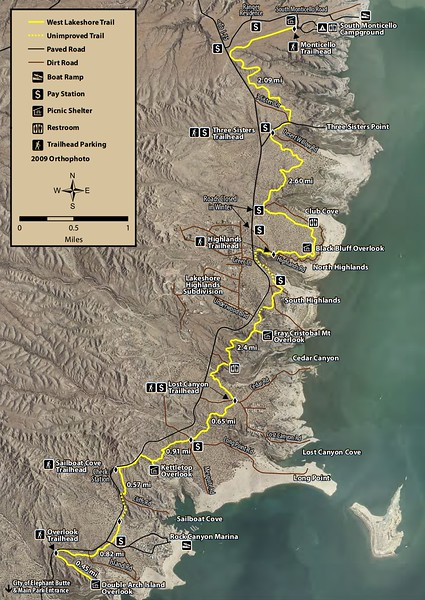 Elephant Butte Lake State Park (Trail Map)