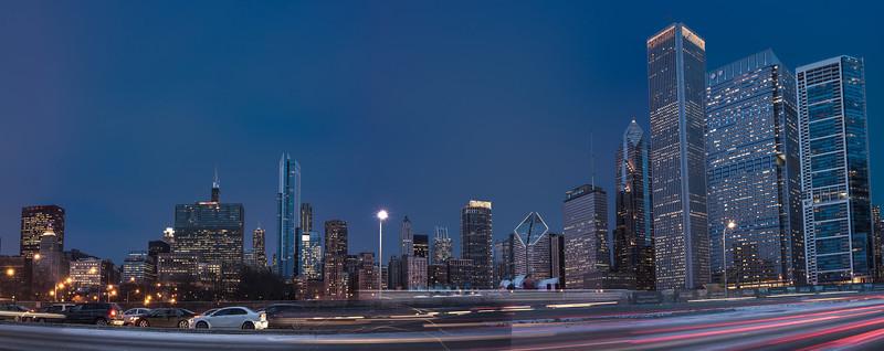Grant Park Skyline at Night