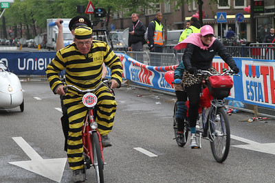 Gekke fietsen race Amsterdam Giro d'Italia