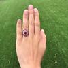 3.27ctw Burma No-heat Ruby Cluster Ring, GIA cert 10